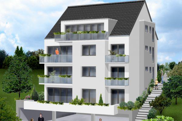 Visualisierung-Buocher-Straße-Straßenseite